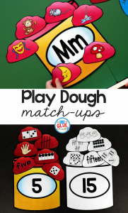Make learning fun with these themed Initial Sound and Number Match-Ups. Your elementary age students will love this fun play dough themed literacy center and math center! Perfect for literacy stations, math stations, or small review groups all year long. Use in your Preschool, Kindergarten, and First Grade classrooms. Black and white options available to save your color ink.