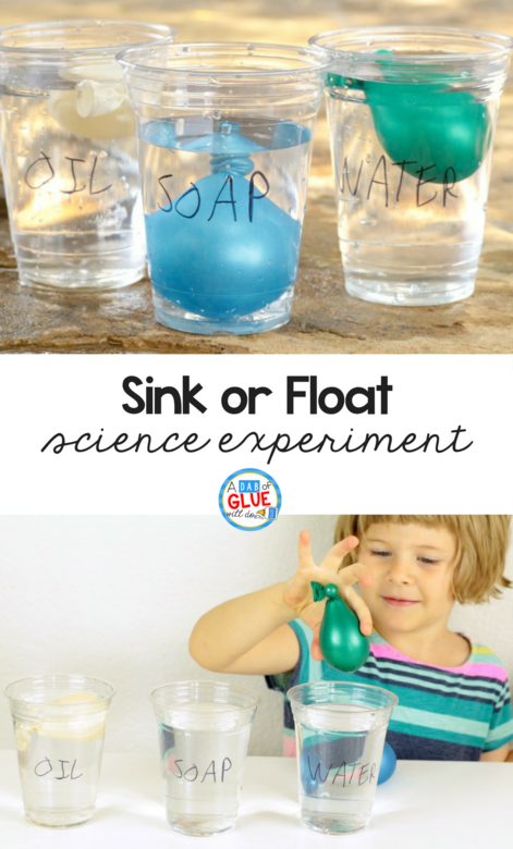 This fun sink or float science experiment explores the density of liquids with a fun twist by using balloons filled with various liquids.