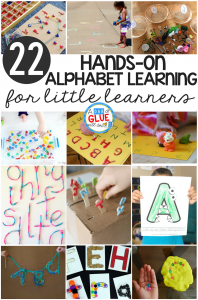 The alphabet is one of my favorite things to teach little learners! When you can make learning hands-on kids LOVE it and learning really sticks with the kids. Here's a set of some of my favorite hands-on alphabet learning for little learners!