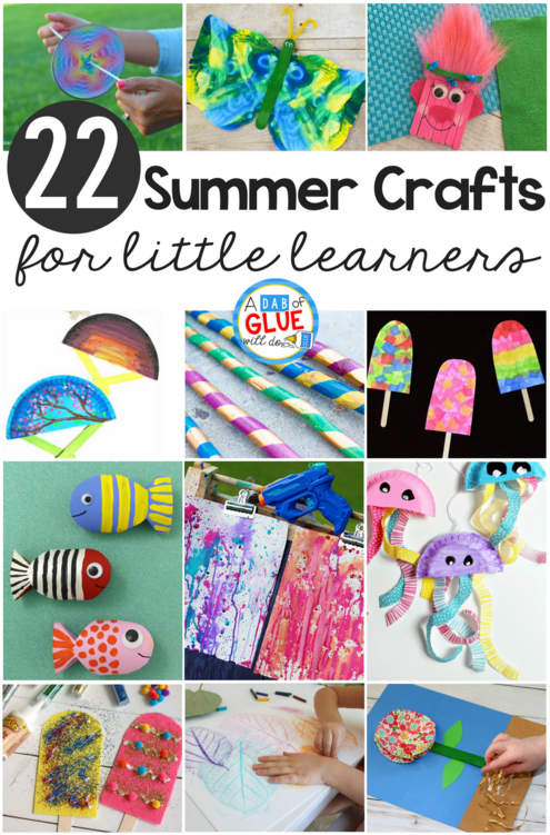 We are a crafting family and summer is our favorite season to create fun crafts for little learners! These summer crafts are simple and fun to keep your kids busy this summer. Check out the entire list and find your inspiration for summer crafts for little learners!