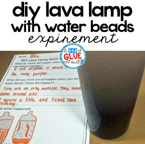 DIY Lava Lamp With Water Beads Experiment Freebie