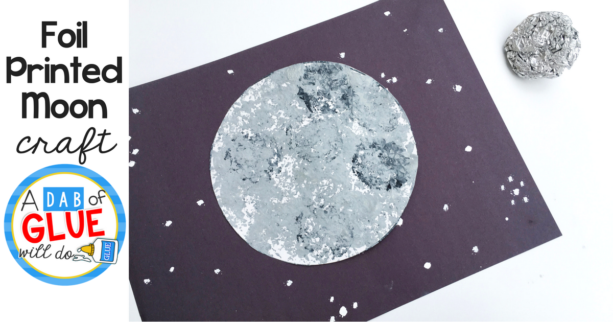 Foil Printed Moon Craft