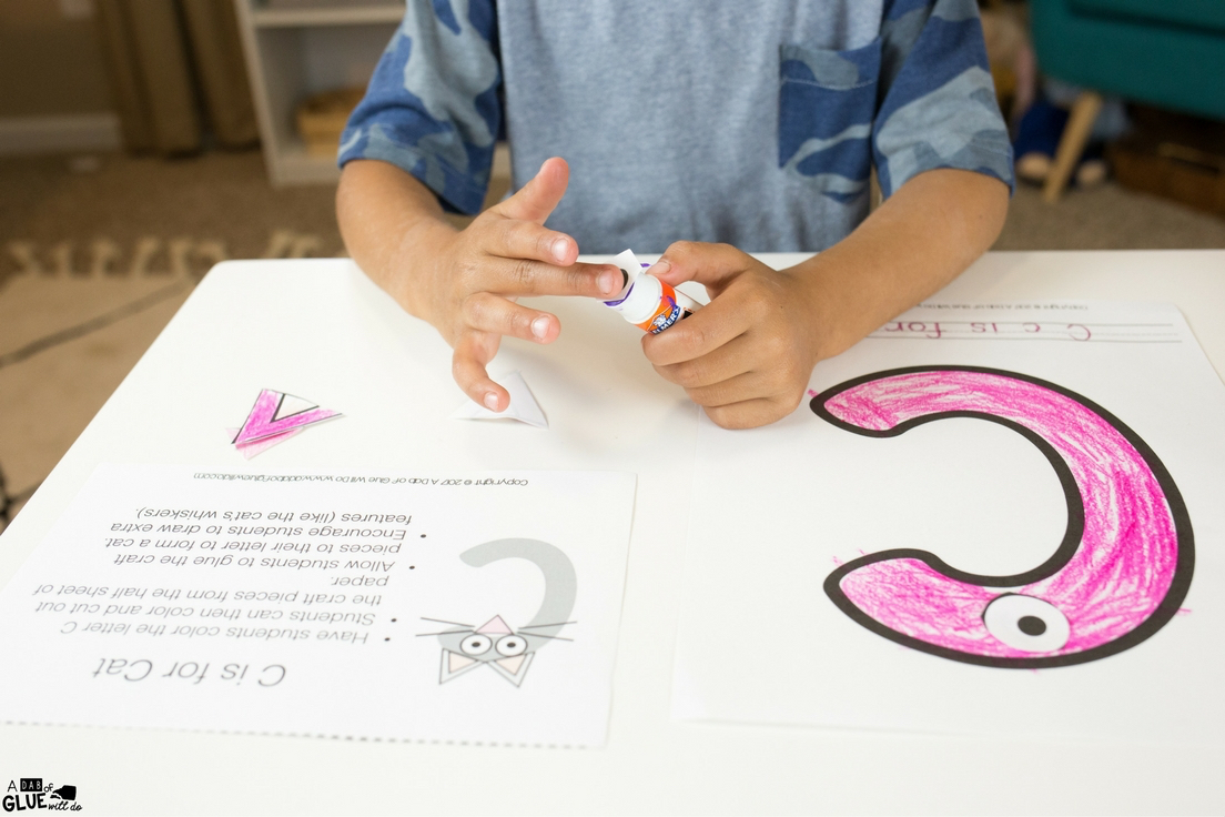 Grab this Animal Alphabet C is for Cat Craft for your kindergarten classroom. Besides becoming more familiar with the letter C, students will work on their fine motor skills!