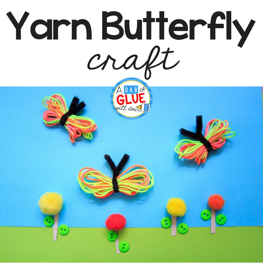 Not only is this Rainbow Yarn Butterfly Craft lovely, but it is perfect to develop some fine-motor skills & is a great sensory experience too!