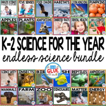 Engage your class in an exciting hands-on experience learning all about science! Endless Science Mega {Growing} Bundle is perfect for science in Preschool, Pre-K, Kindergarten, First Grade, and Second Grade classrooms and packed full of inviting science activities. Excite your learners with the study of Life Science, Physical Science, Earth Science, and Animal Studies. These studies are perfect for any time of the year. This is a GROWING SCIENCE BUNDLE that will have your students learning all about: 21 life science topics, 4 physical science topics, 11 earth science topics, and 17 animal science topics. That is a TOTAL OF 53 SCIENCE TOPICS covered in one mega bundle. This pack is great for homeschoolers, kids craft activities, and to add to your unit studies!