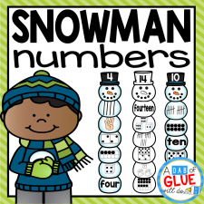 Make learning fun with these themed Number Match-Ups. Your elementary age students will love this fun winter, snowman themed math center! Perfect for math stations or small review groups any time of the year. Use in your Preschool, Kindergarten, and First Grade classrooms. Black and white options available to save your color ink.