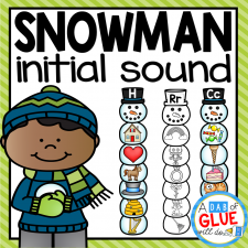 Make learning fun with these themed Initial Sound Match-Ups. Your elementary age students will love this fun winter, snowman themed literacy center! Perfect for literacy stations or small review groups any time of the year. Use in your Preschool, Kindergarten, and First Grade classrooms. Black and white options available to save your color ink.