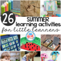 Little learners love all things hands-on and summertime is the perfect time to get them outside for summer learning activities! This list is packed full of hands-on activities, crafts, and STEM learning for little learners.