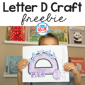 Welcome back to another Animal Alphabet Letter of the Week craft! This week we are continuing the Animal Alphabet series with D is for Dinosaur Craft. Perfect for preschoolers, kindergarteners, and first graders learning letter sounds and letter recognition!