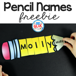 Pencil Names – Name Building Practice Printable