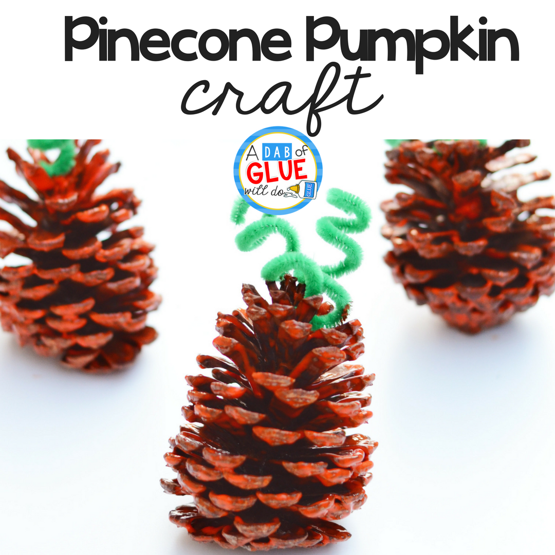 Pinecone Pumpkin Craft