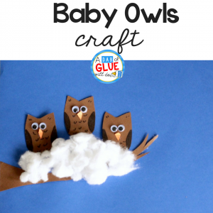 Cotton Ball Owl Babies Craft