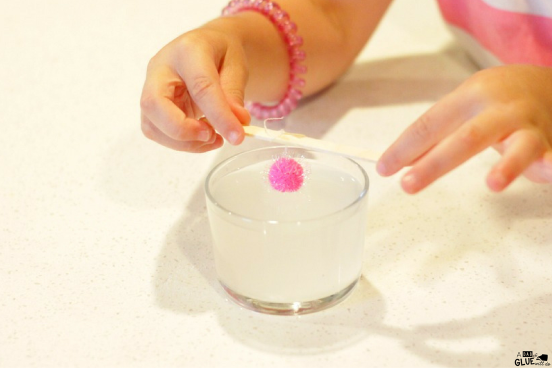 This crystal balls science experiment for kids is completely safe for preschoolers and kindergarteners, yet even first and second graders will enjoy watching the magic of growing crystals.