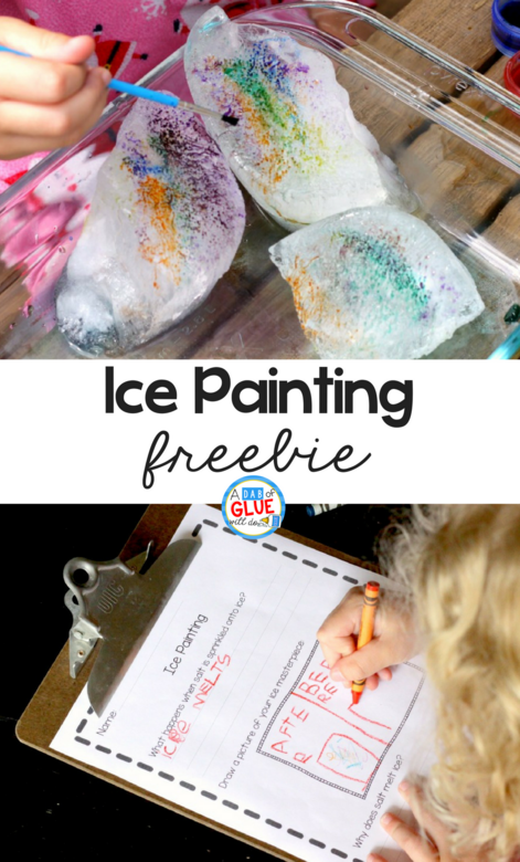 Ice Painting with Salt and Watercolors