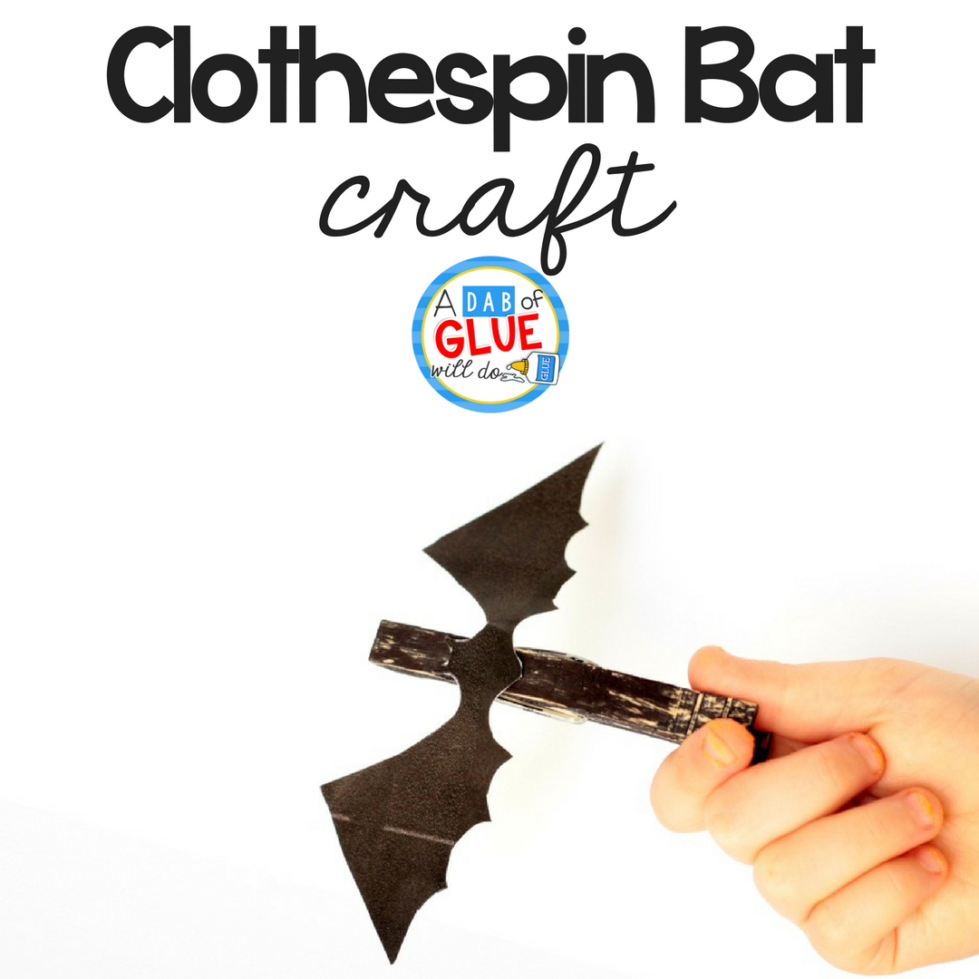 Easy Clothespin Bat Craft