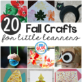 Fall brings a whole new kind of beautiful to our crafting! I'm excited to gather some of the best fall crafts to little learners that will inspire you to create during the fall season. Check out the entire list and find your inspiration for fall crafts for little learners!