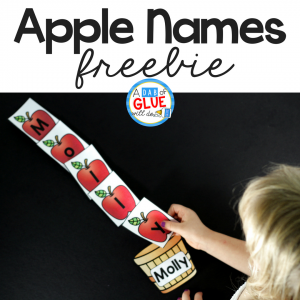 Apple Names – Name Building Practice Printable
