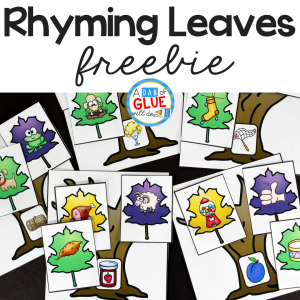 Rhyming Leaves Match-Up Freebie