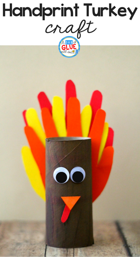 Handprint Turkey Craft, Turkey Craft, Thanksgiving Craft,