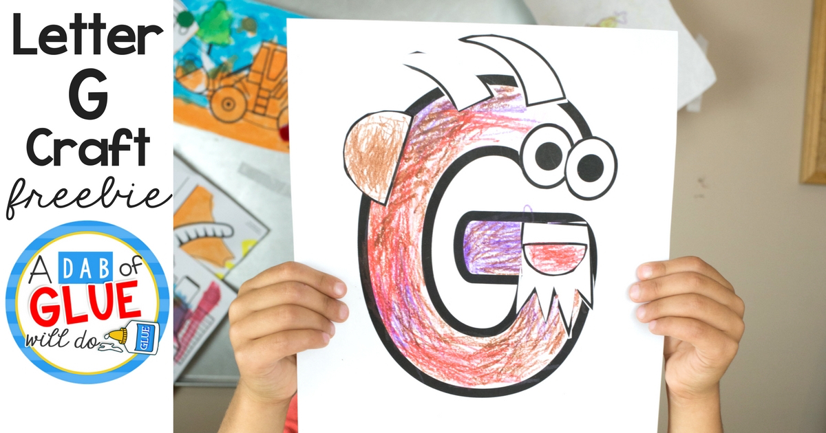 letter g crafts animal alphabet g is for goat craft 22861 | Letter G Craft Facebook Image