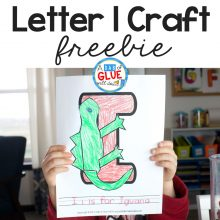 Animal Alphabet I is for Iguana Craft