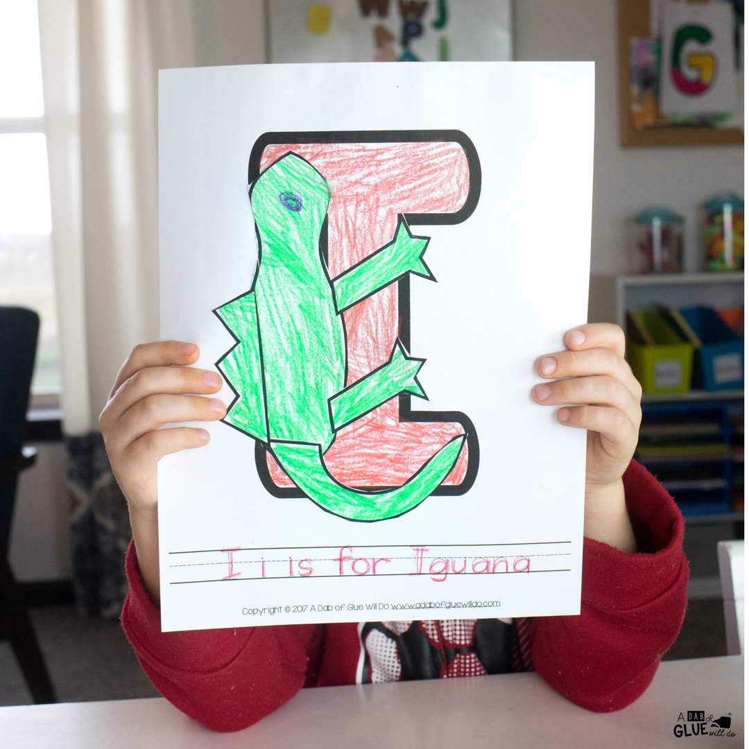 Doing letter of the week with your students ensures they will have a chance to learn each letter of the alphabet in a fun and creative way. Thisweek we will be focusing on the Animal Alphabet I is for Iguana Craft.
