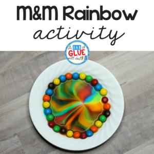 M&M Rainbow Science Experiment