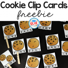 Cookie Counting Clip Cards