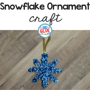 Puzzle Piece Snowflake Ornament Craft