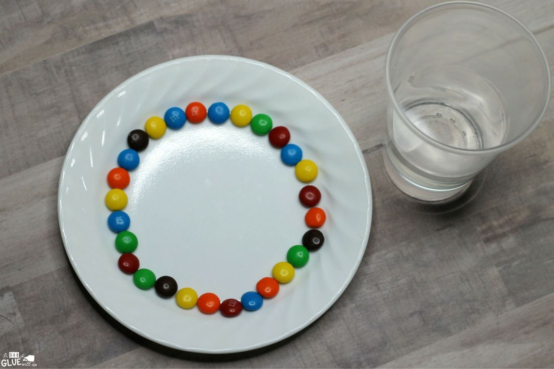 Are you looking for a simple science experiment to do in your classroom? This M&M Rainbow Science Experiment is a fun and easy way to teach children about mixing colors and creating new colors. This is also the perfect experiment to teach your students how sugar dissolves when mixed with warm water.