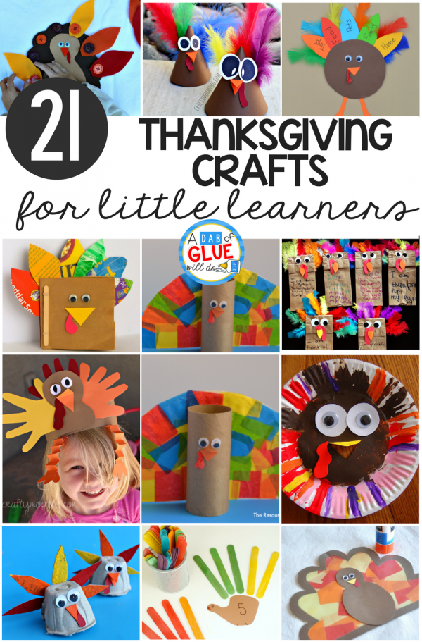 The holidays are a great time to have fun learning with your studnets! Add these Thanksgiving crafts for little learners to your fall learning units for great hands on fun!
