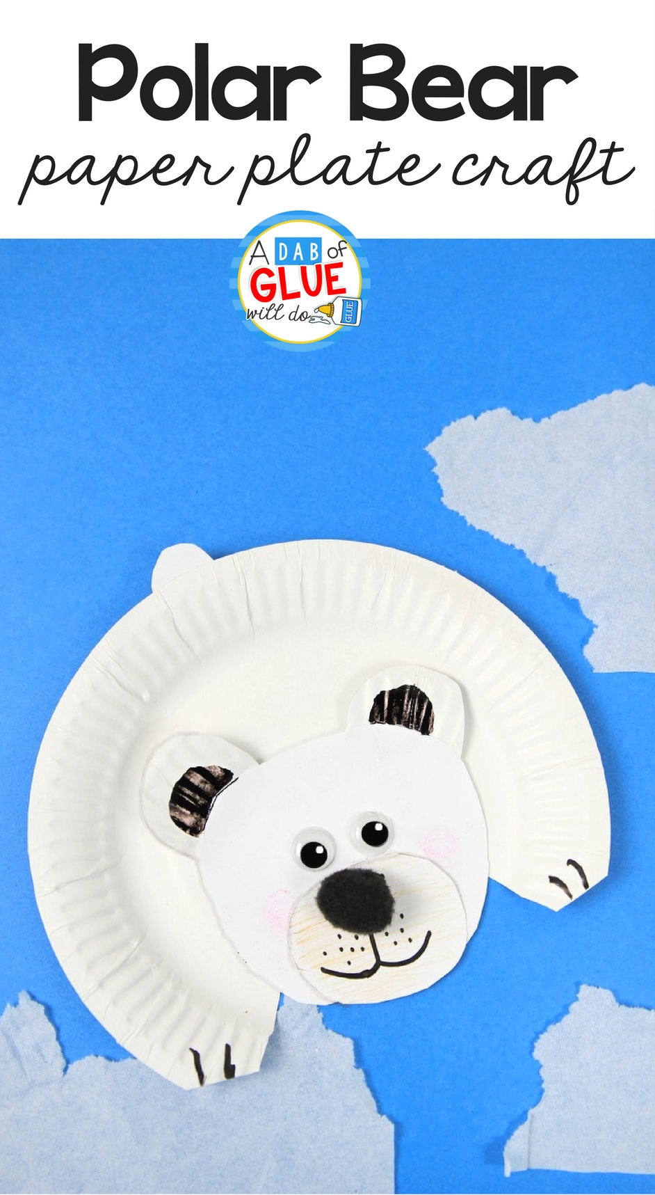 arctic animals for kids polar bear craft a dab of glue