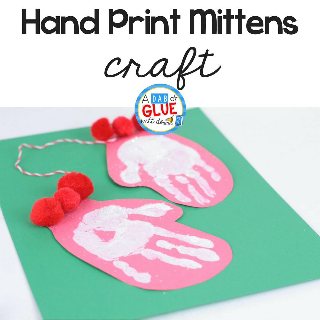 Hand Print Mitten Craft
