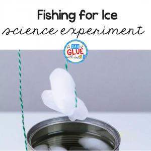 "The fishing for ice science experiment is a fun ""wow"" science project to try with kids. This fun winter science activity mixes winter with science!"