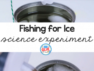 """The fishing for ice science experiment is a fun """"wow"""" science project to try with kids. This fun winter science activity mixes winter with science!"""