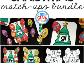 Make learning fun with these Christmas Match-Ups Bundle. This includes themed centers for Initial Sounds, Middle Sounds, Ending Sounds, Blends, Digraphs, and Number Match-Ups. Your elementary age students willlovethis funChristmas themed literacy center and math center! Perfect for literacy stations, math stations, or small review groups this Christmas. Use in your Preschool, Kindergarten, and First Grade classrooms. Black and white options available to save your color ink.