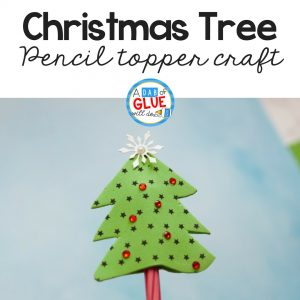 Christmas Tree Pencil Topper