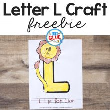 Animal Alphabet L is for Lion Craft