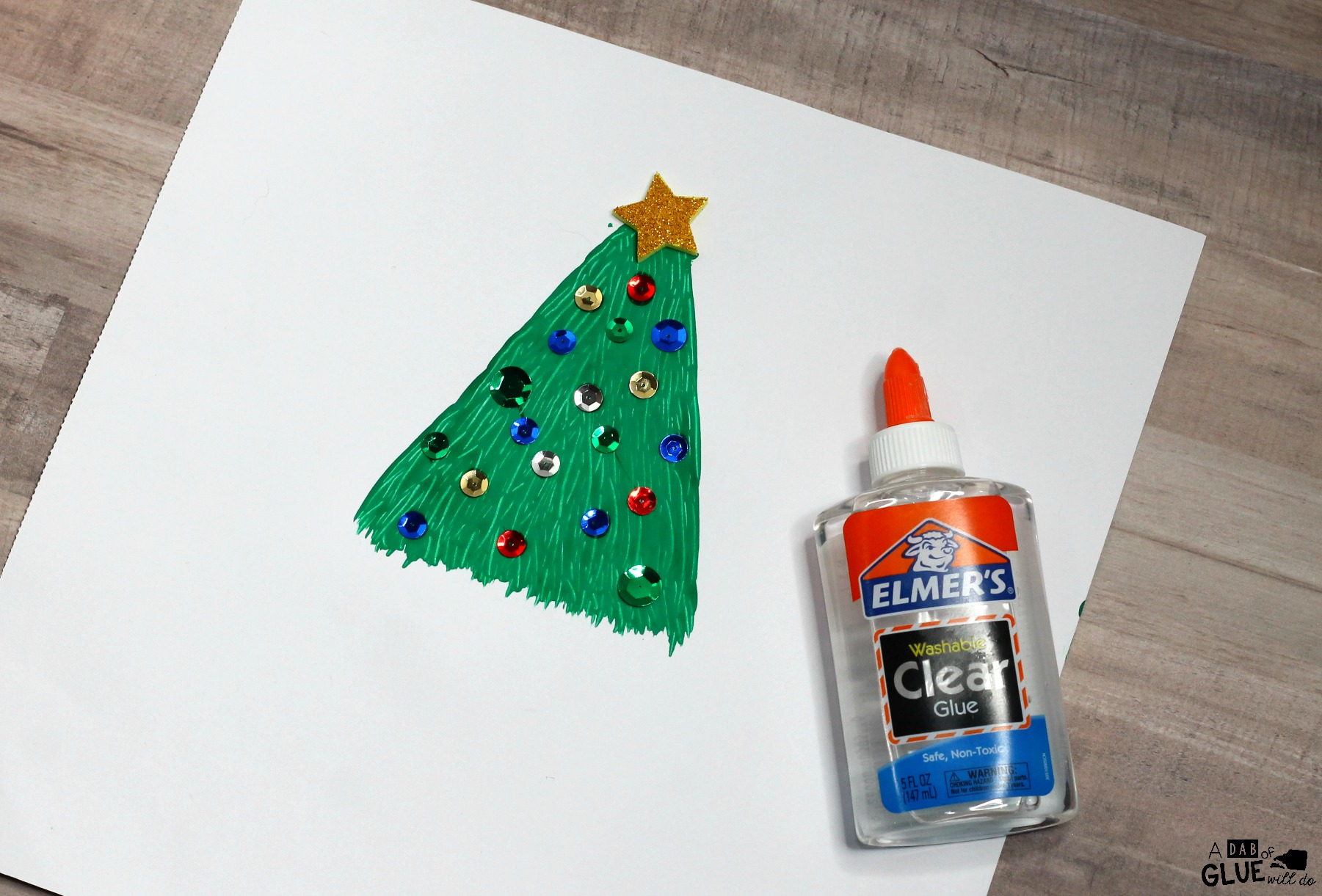 This Fork Painted Christmas Treeis a fun and easy craft for young children to make. You can hang these holiday crafts on a bulletin board for a cheerful and festive decoration that will brighten up your classroom.