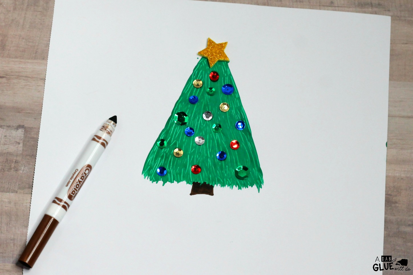 This Fork Painted Christmas Tree is a