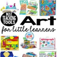 My students always loved art time! I tried to sneak it in as many of my lessons as I could. Sometimes I used some of these art materials that I thought you might find useful. SO I created this list of the best art teaching tools for little learners!