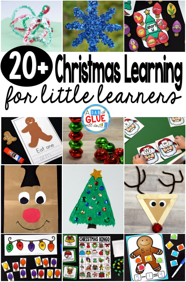 Christmas printables and Christmas craft ideas for your winter learning! Grab these free Christmas downloads as your go to Christmas learning resources!