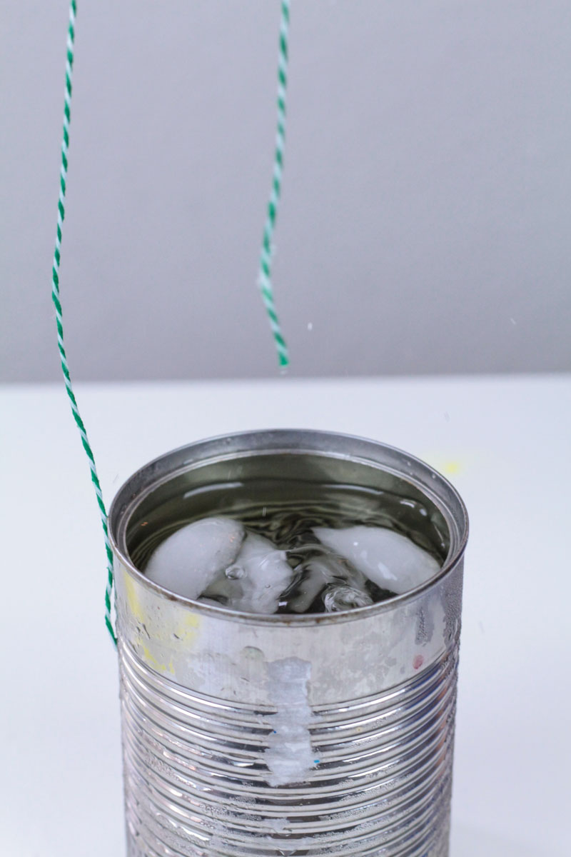 Try Ice Fishing Science Experiment for Kids as your next winter STEM activity! It's perfect for states of matter science lessons for young kids.
