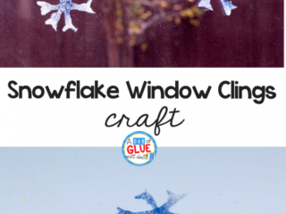 If you love window clings, try making your own DIY snowflake window clings using just 2 materials! Kids will love making these sticky snowflakes.
