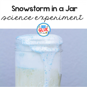 Snowstorm in a Jar Science Experiment