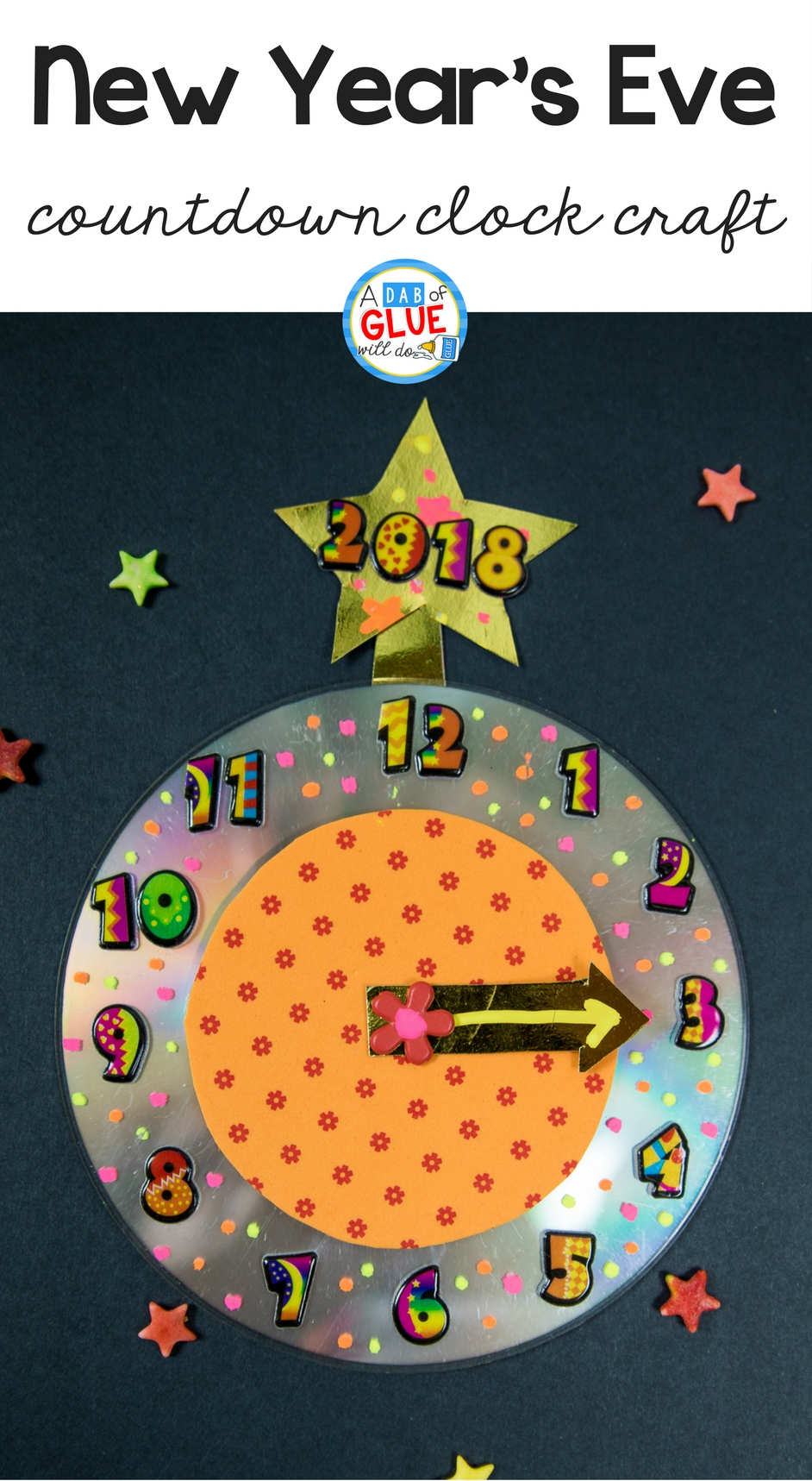 New Year's Eve Countdown Clock Craft