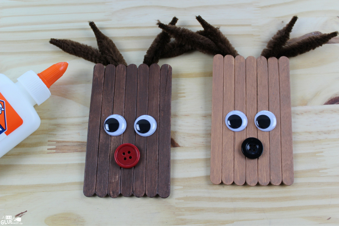 Popsicle Stick Rudolph is a great Christmas craft for students this winter! Add in fine motor for students and this winter craft is a holiday activity must!