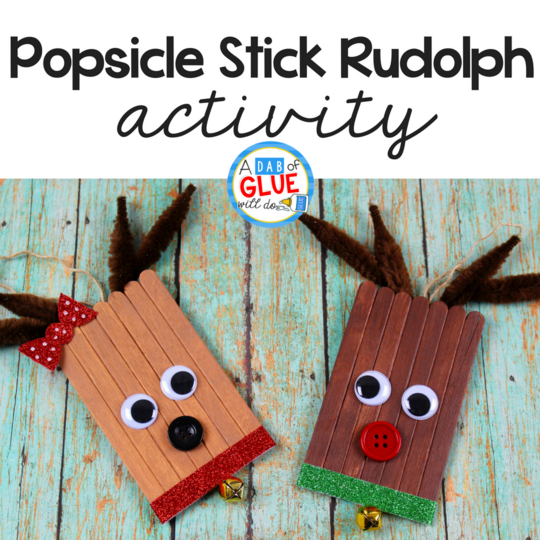 Popsicle Stick Rudolph Ornaments