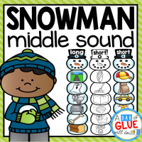 Make learning fun with these themed Middle Sound Match-Ups. Your elementary age students will love this fun snowman themed literacy center! Perfect for literacy stations or small review groups this winter. Use in your Preschool, Kindergarten, and First Grade classrooms. Black and white options available to save your color ink.