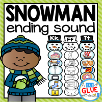 Make learning fun with these themed Ending Sound Match-Ups. Your elementary age students will love this fun snowman themed literacy center! Perfect for literacy stations or small review groups this winter. Use in your Preschool, Kindergarten, and First Grade classrooms. Black and white options available to save your color ink.